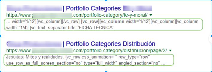 Meta datos incorrectos en Google
